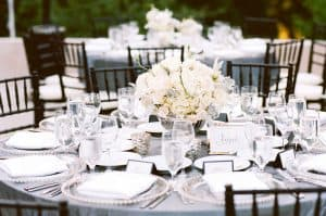 Black and White Wedding Rentals