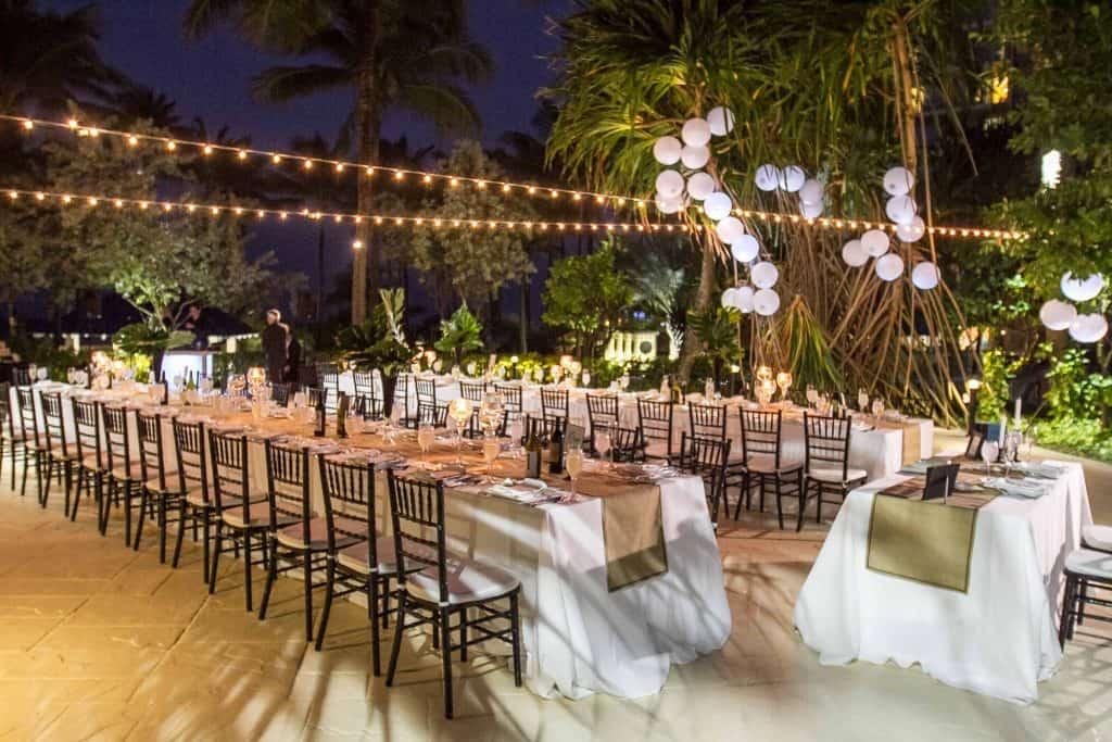 Outdoor Evening Wedding Reception Rentals - Vini's Party ...