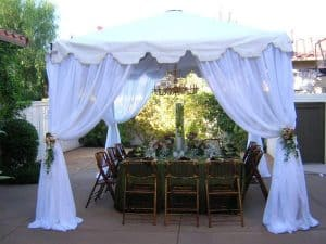 White Canopy Draping Rentals