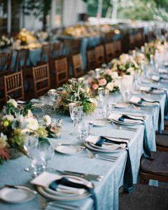 wedding trends velvet linen rentals