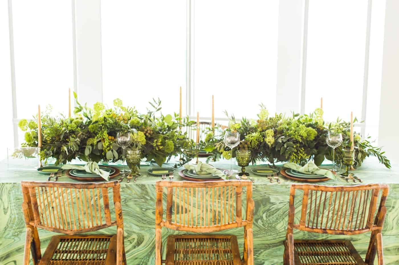 Green Theme Wedding Rentals