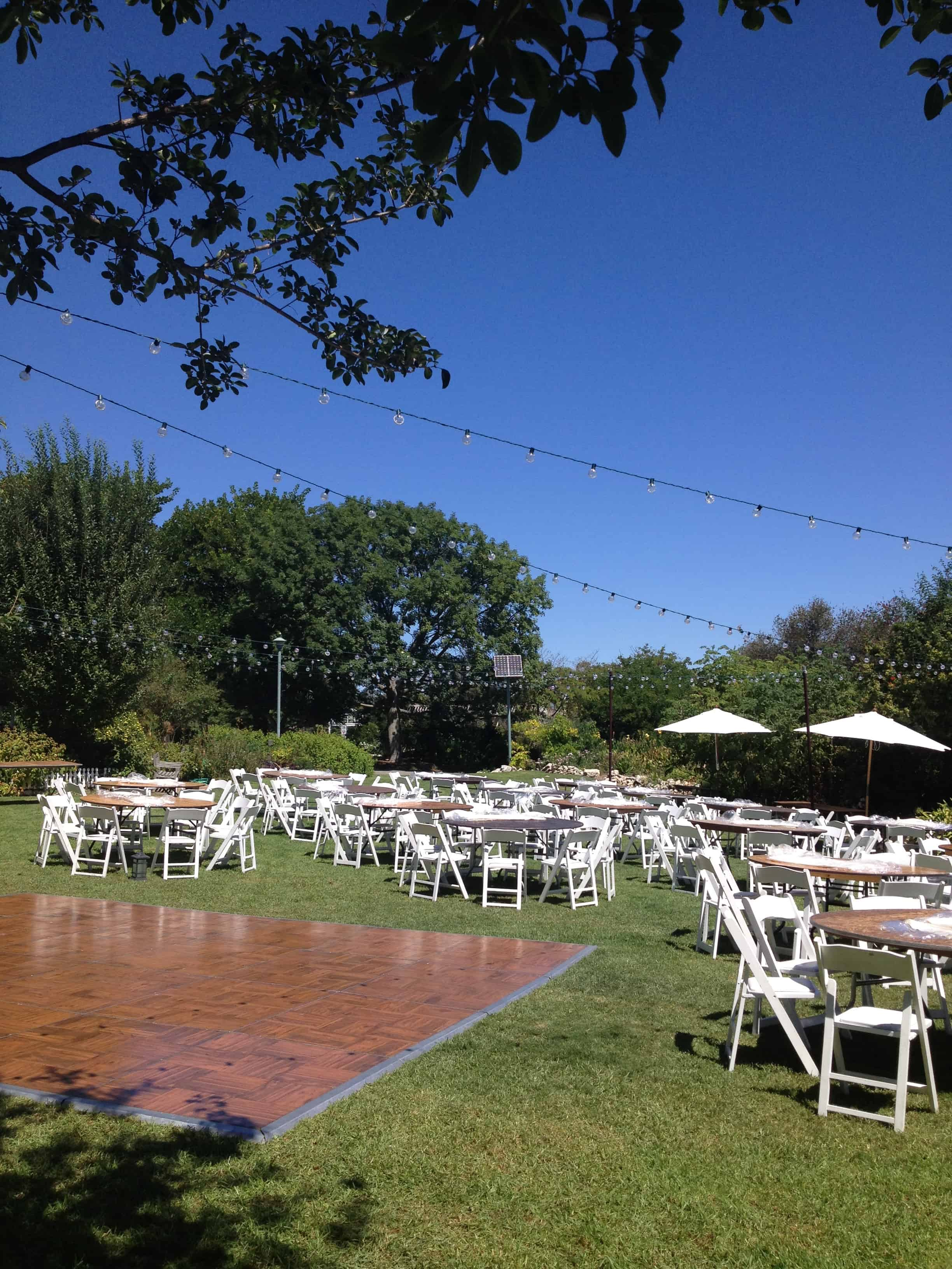 Wedding Installation At South Coast Botanic Garden 1 Vini S Party Rentals