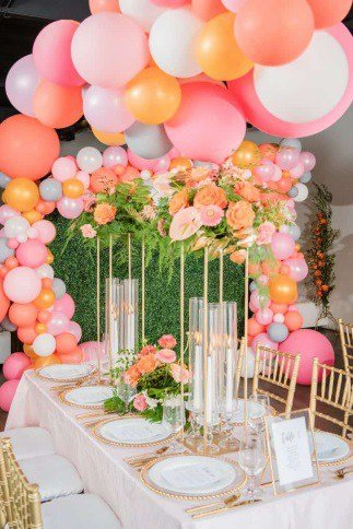 Gold Themed Wedding Rentals