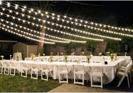 Backyard White Wedding Rentals